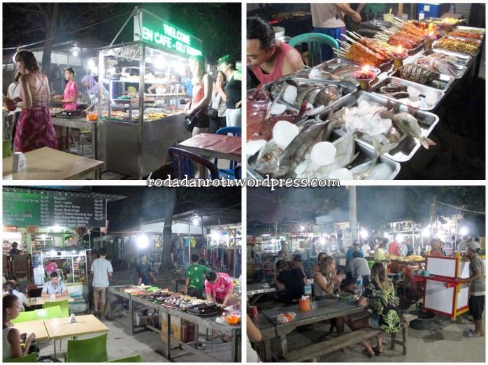 pasar seni makan murah di gili trawangan