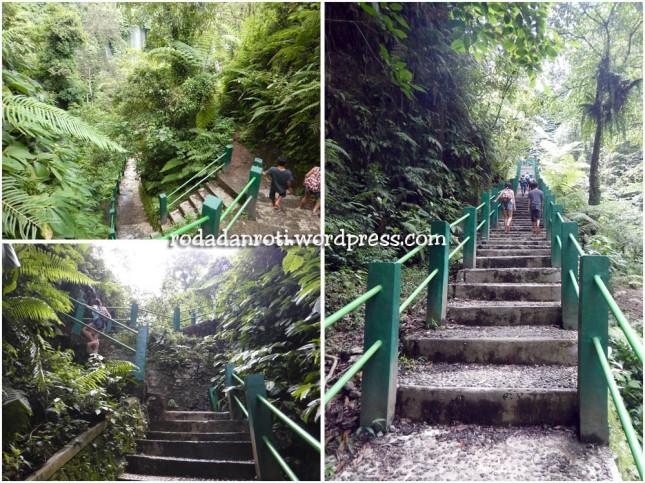 tangga naik benang kelambu yang curam