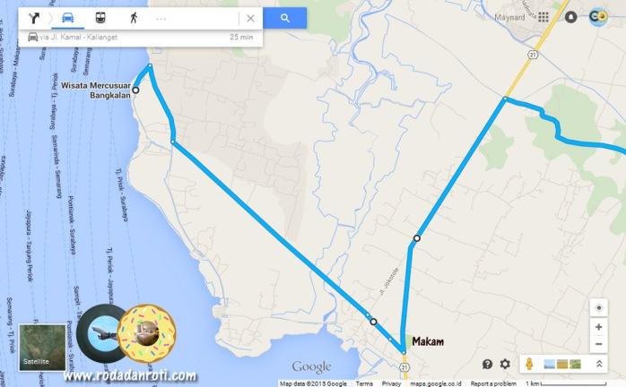 peta menuju ke mercusuar zm williem sembilangan bangkalan