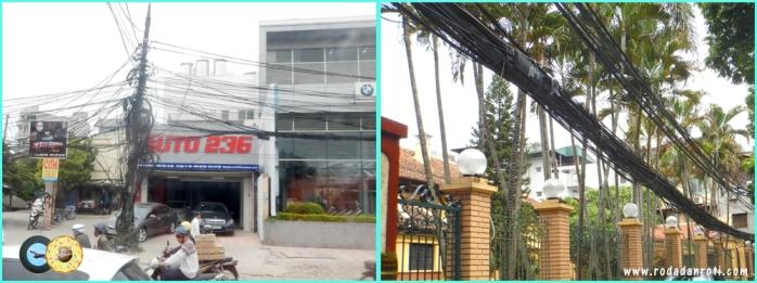 kabel listrik semrawut di hanoi vietnam