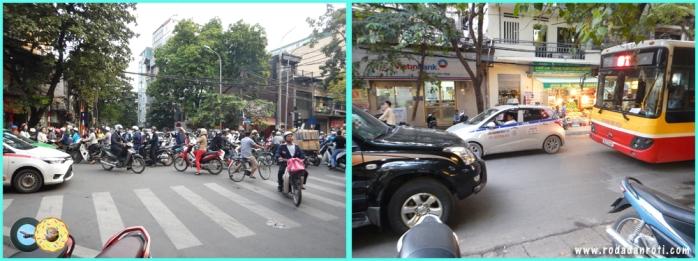 lalu lintas hanoi vietnam yang crowded