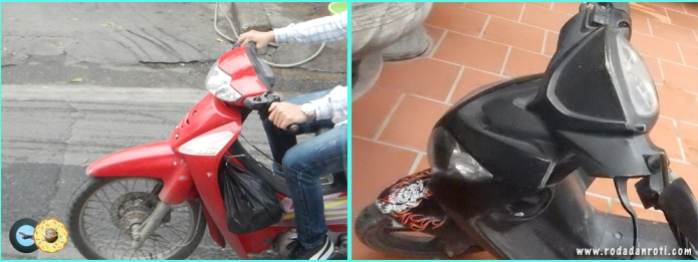 Sepeda motor vietnam yang tanpa plat nomer didepan