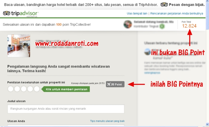 big point dari trip advisor