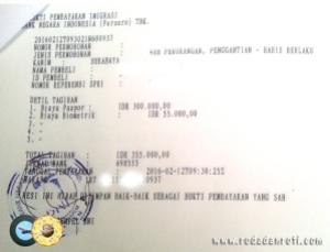 bukti bayar paspor untuk bukti pengambilan