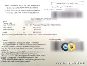 bukti pengantar pembayaran paspor
