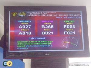 informasi antrian kantor imigrasi surabaya