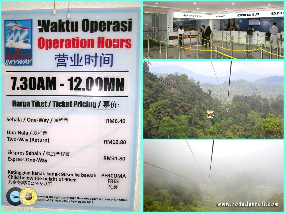 Awana Skyway Cable Car Price