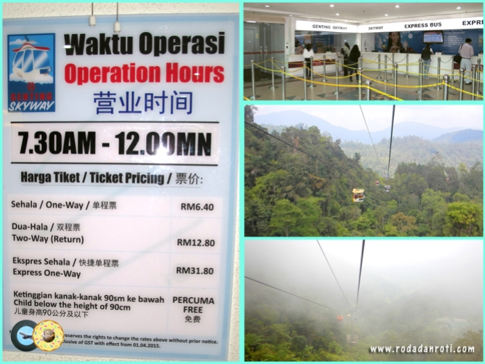 harga Cable car genting price list rate