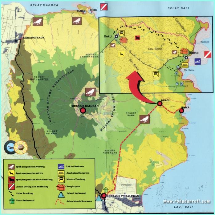 Peta taman nasional baluran