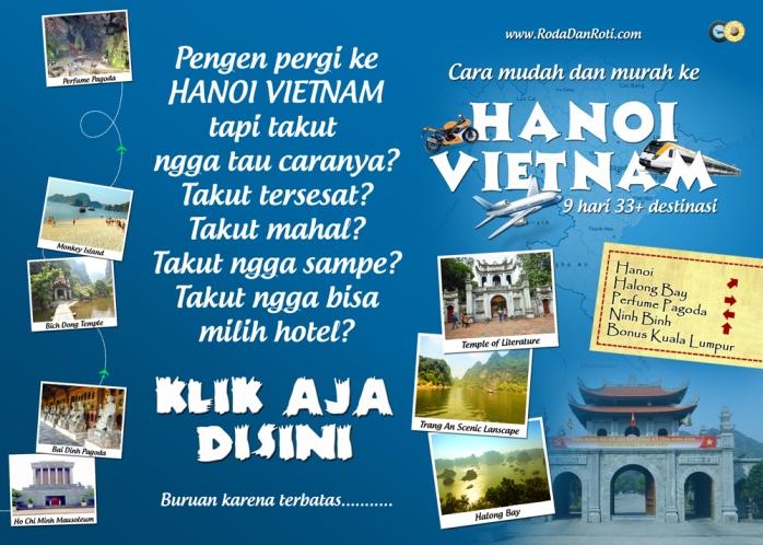 buku cara mudah dan murah ke hanoi vietnam